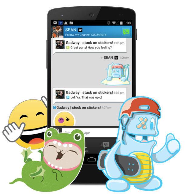 app BBM blackberry Messenger sticker
