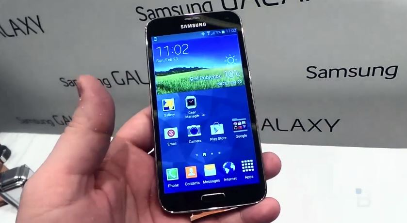 Android galaxy Galaxy S5 hands on MWC2014 s5 Samsung
