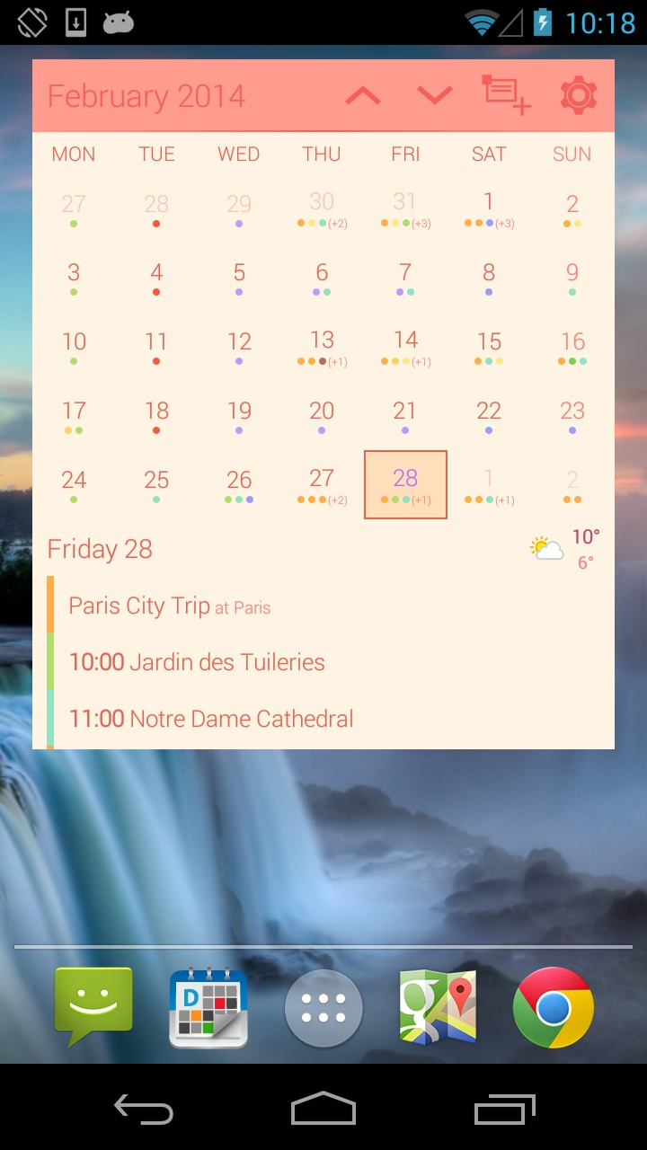 agenda Android Kalender widget