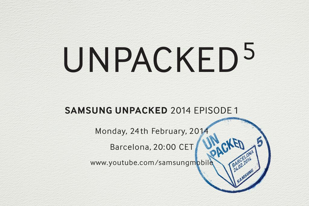 Android galaxy MWC2014 s5 Samsung unpacked
