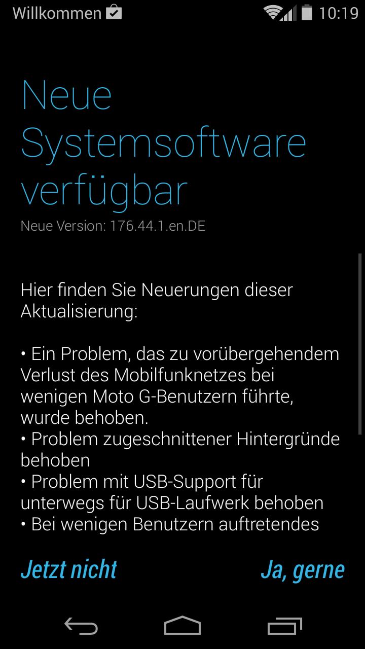 Android Firmware Moto G Motorola Update