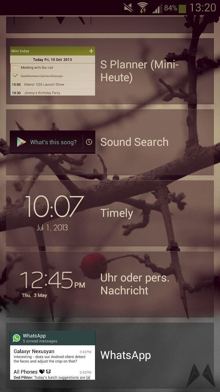 Android apk app instant messenger lockscreen Messenger whatsapp widget