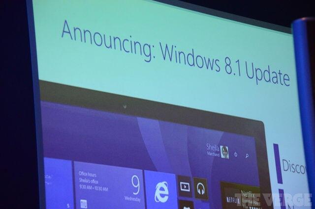 Firmware microsoft MWC2014 Update Update 1 Windows Windows 8.1