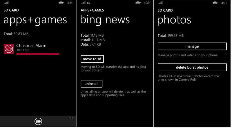 app2sd features Firmware leaks microsoft Update Windows Phone Windows Phone 8.1