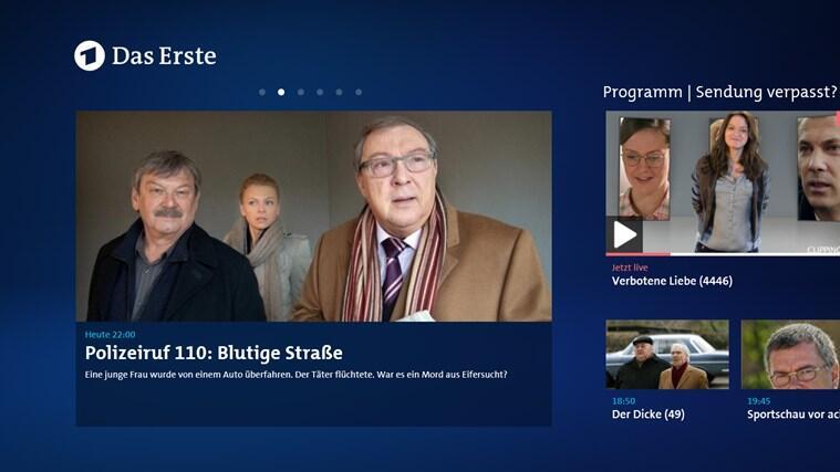 app ard das erste TV Video vod Windows