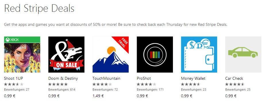 app deal Game red stripe Windows Phone wp