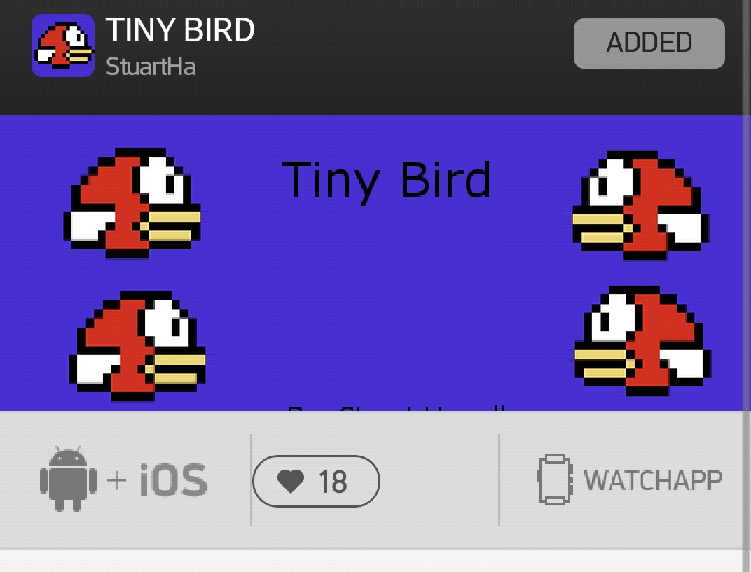 Flappy Birds Pebble