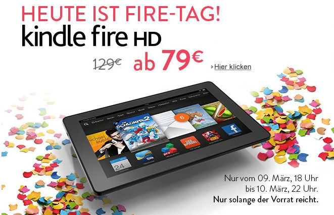 amazon Android deal Kindle Fire HD Schnäppchen tablet