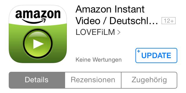 amazon instant video iOS prime Update Video