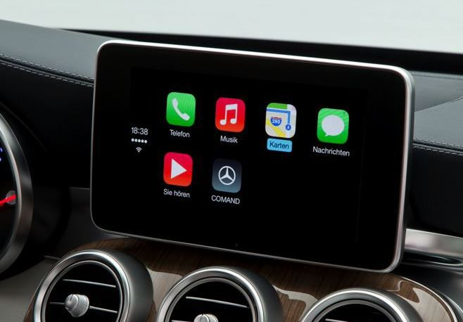 Apple carplay auch mercedes benz zeigt ausf hrliches video for Mercedes benz apple carplay