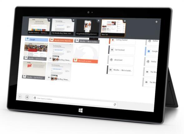 Browser eingestellt Entwicklung firefox Modern UI Touch Windows 8