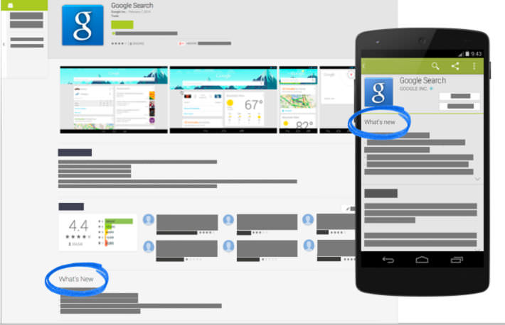 Android changelog Google google play play store
