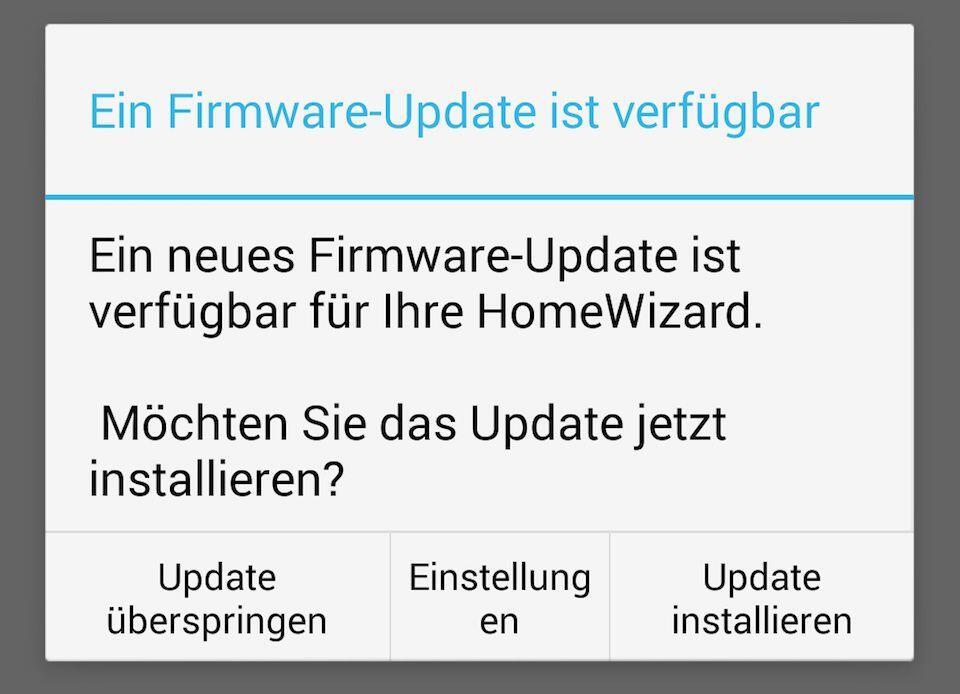 Android Heimsteuerung HomeWizard iOS Update