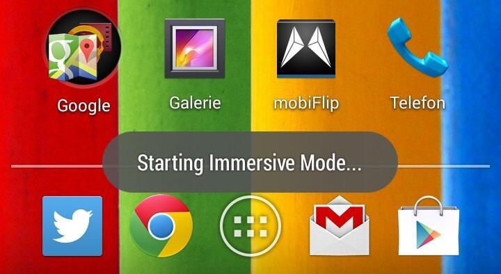 Android Fullscreen Google Vollbild