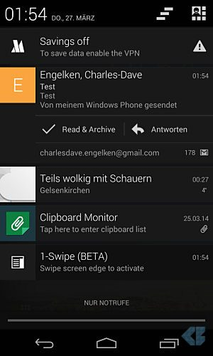 Android app E-Mail Gmail
