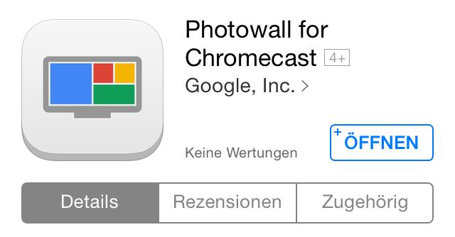 chromecast experiment Fotos Google iOS