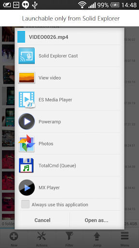 Android app cast chromecast plugin Solid Explorer Update