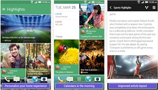 Android blinkfeed HTC