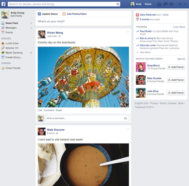 facebook newsfeed social