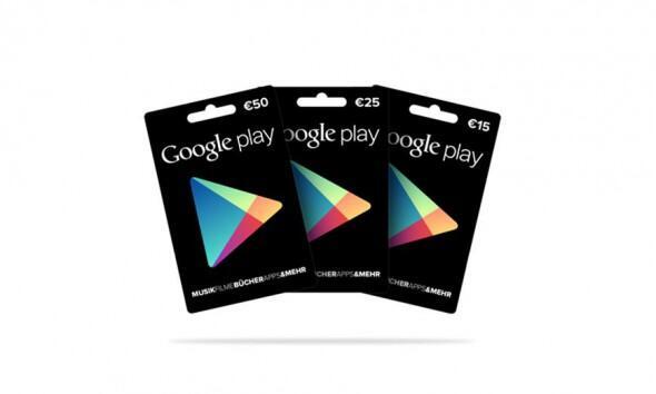 Geschenkkarten Google google play guthaben