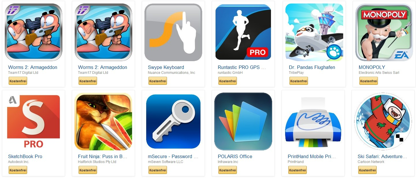 amazon Android Apps games gratis