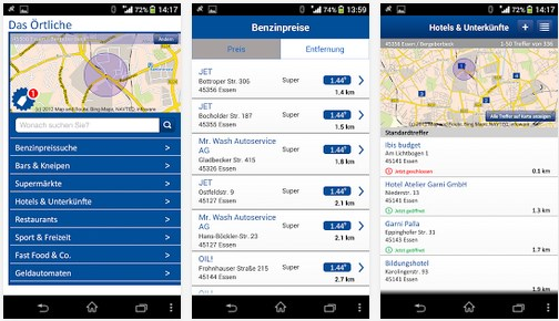 Android Benzin iOS sparen Tanken Telefonbuch