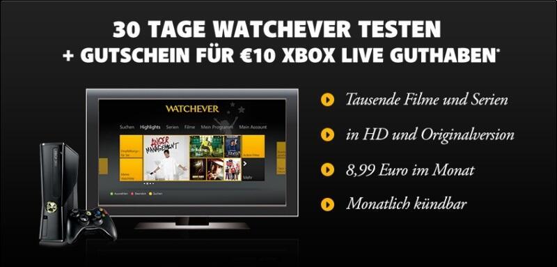 aktion Video vod Watchever xbox