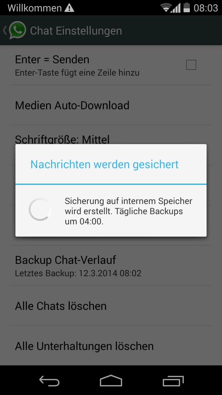 backup chat Messenger whatsapp