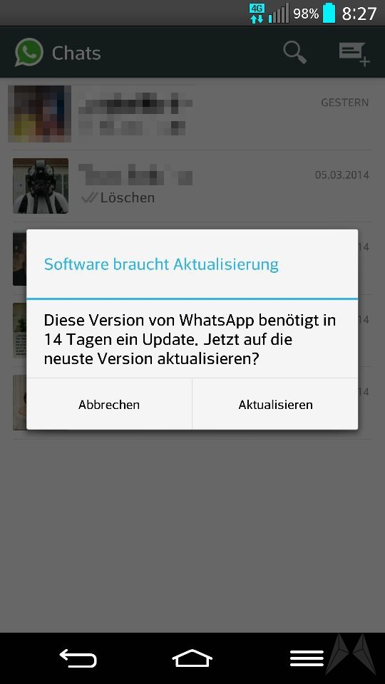 Android bug fail fehler Messenger whatsapp