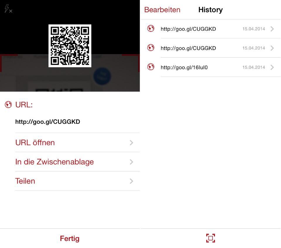 app barcode deal iOS qr scan tipp Tool