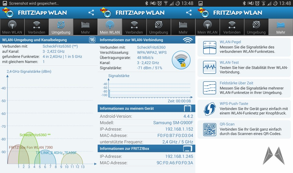 Android avm Fritz! Wlan