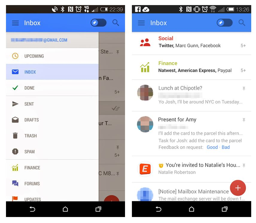 Android Gmail Google mail