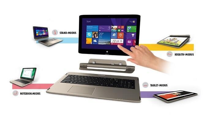 hybride medion Notebook tablet