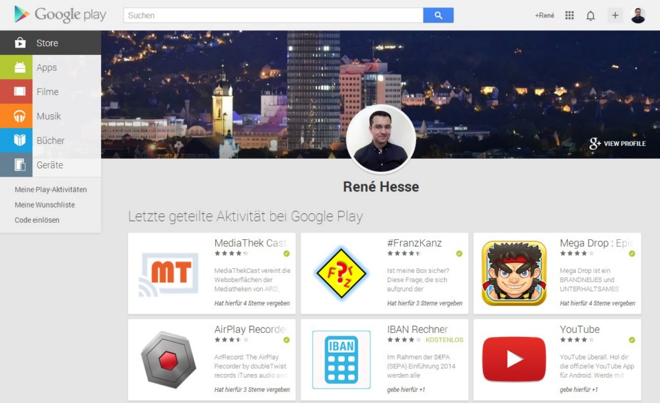 Android Google play webstore