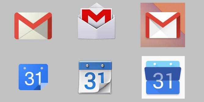 Android design Google Icons Moonshine nexus symbole Update