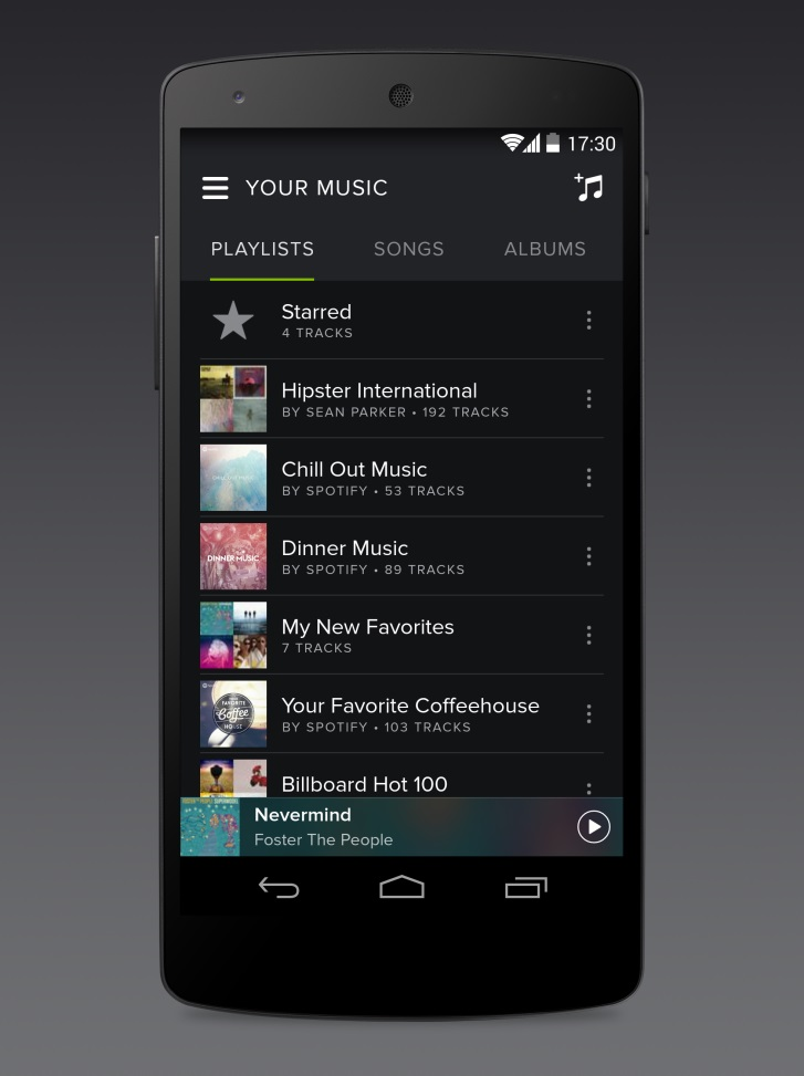 Android music Musik spotify