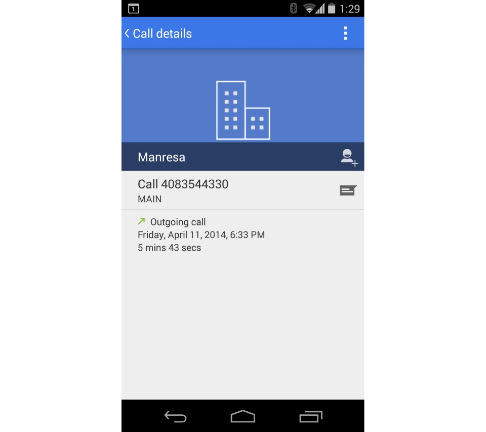 Android app dialer Leak