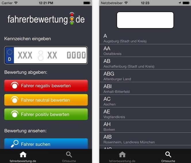 Android app DDDWNB dienst fahrzeuge iOS KFZ