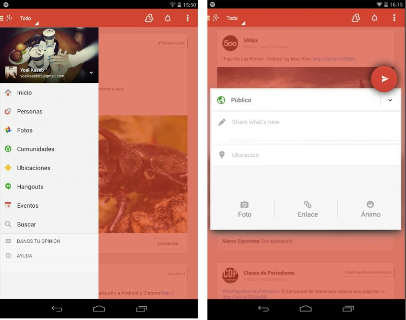 Android app Google plus