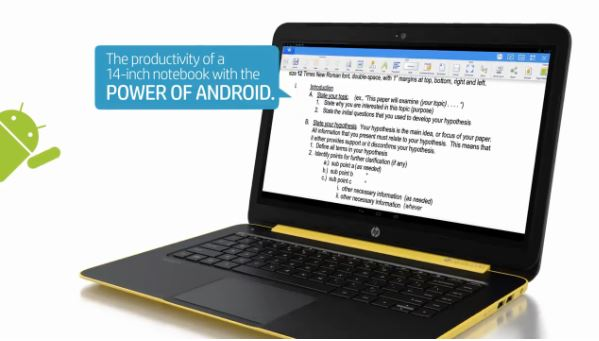 Android HP Notebook