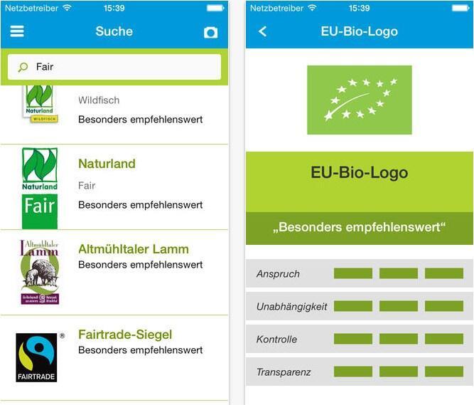 Android app einkauf iOS label