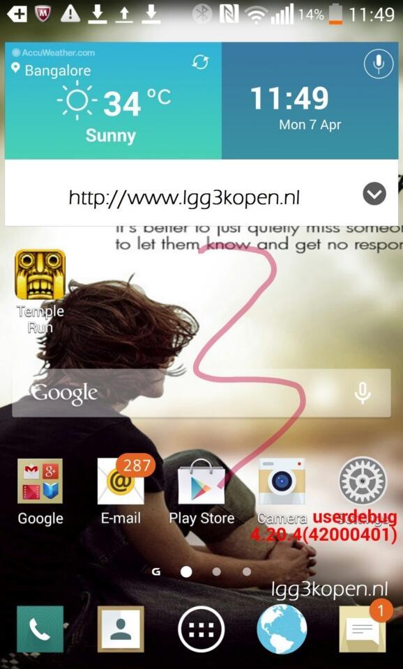 Android G3 Leak LG optimus UI