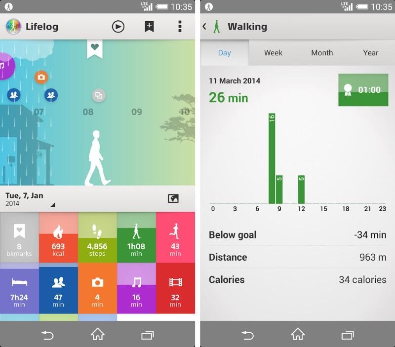 Android app fitness lifelog Sony
