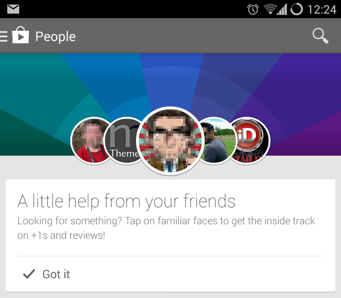 Android Google play plus Update