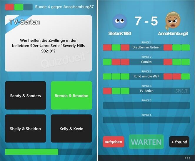 app Game quiz quizduell Windows Phone wp