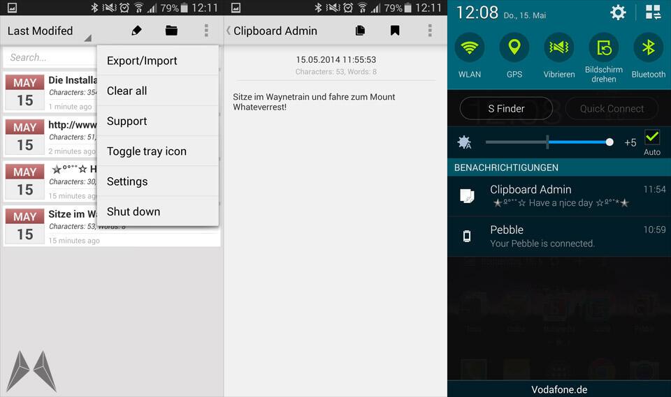 Android Clipboard Zwischenablage
