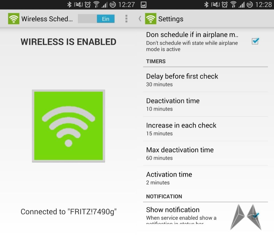Android manager WiFi Wlan
