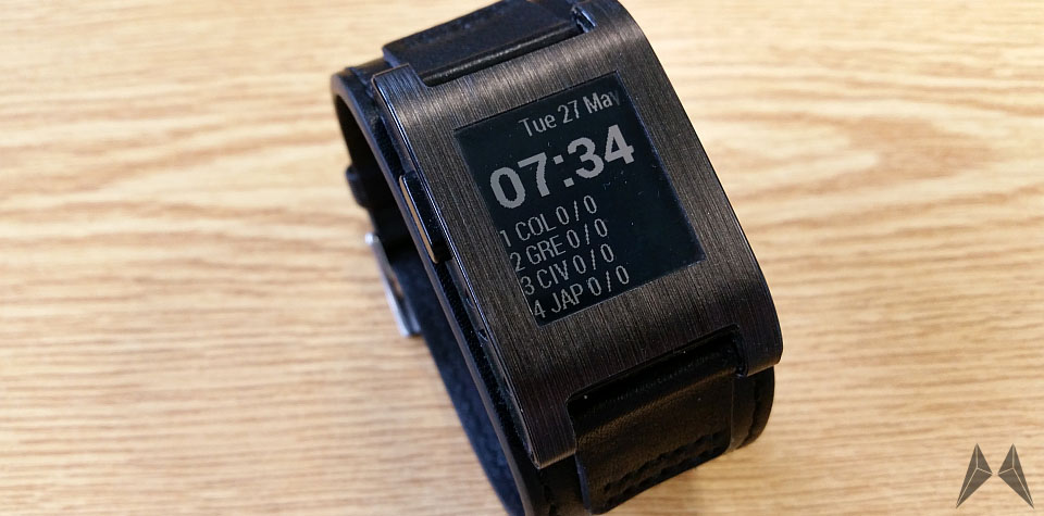 Android fussball iOS Pebble smartwatch
