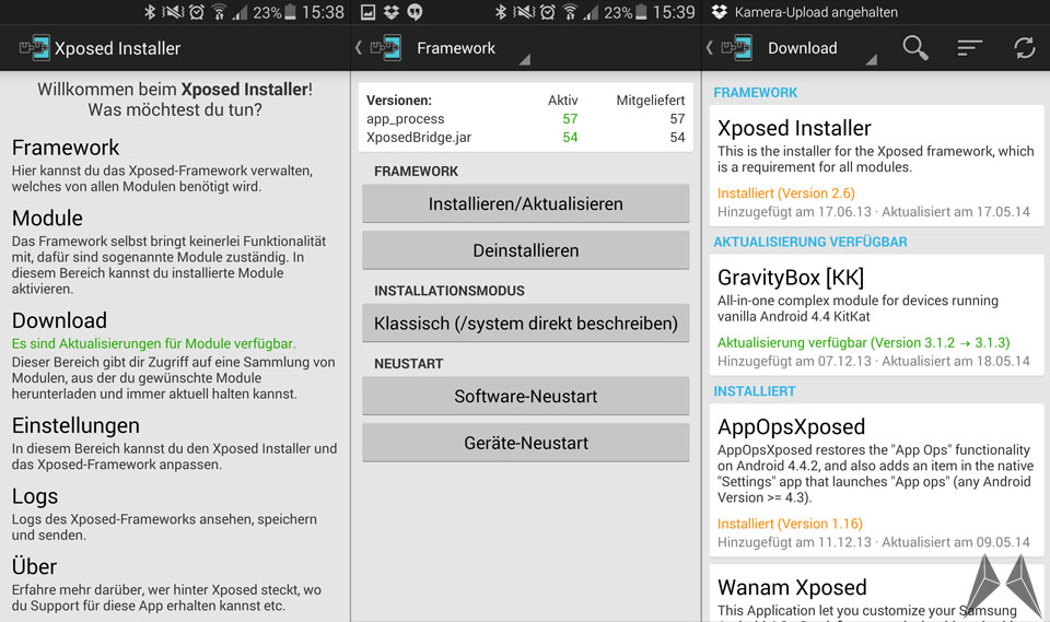 Android Framework modding Xposed