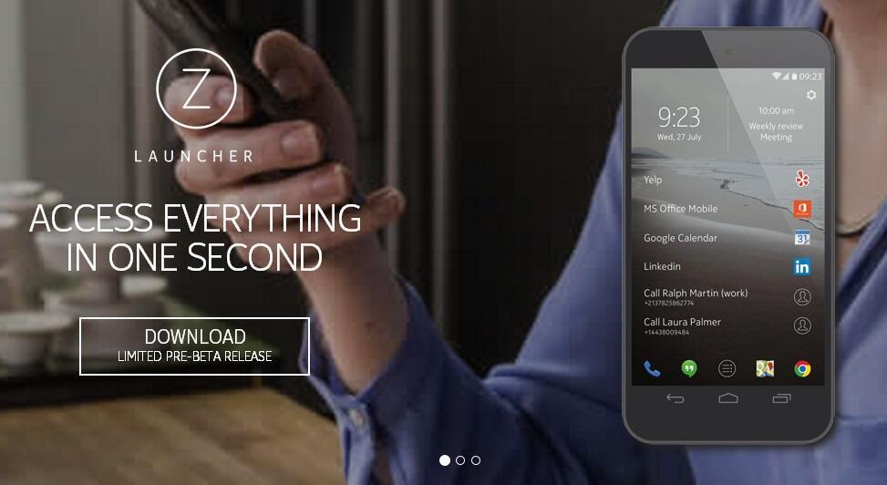 Android beta launcher Nokia
